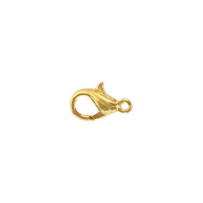 Lobster clasp 10x6mm gold plate