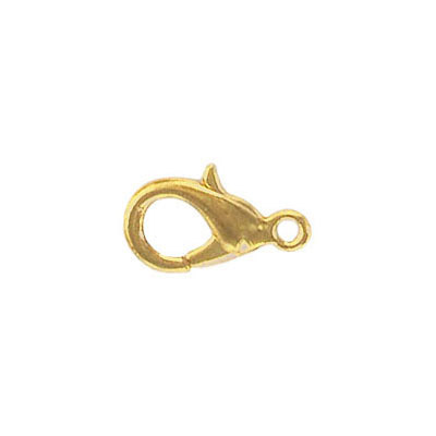 Lobster clasp 15x8mm gold plate