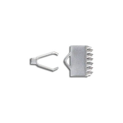 Connector with teeth, 10x5mm, crimp, stainless steel