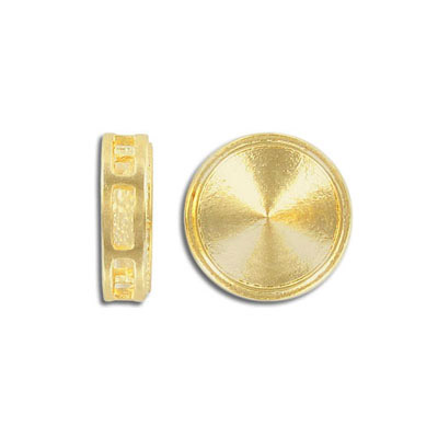 Setting connector for Swarovski Elements rivoli 1122/12MM, gold plate