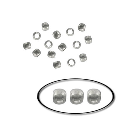 Crimp bead, 2mm, rhodium imitation, value pack