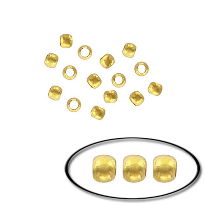 Crimp connector bead 2mm gold plated
