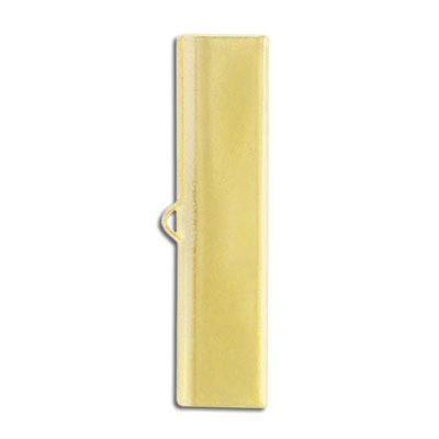 Crimp connector, 40mm, gold plate