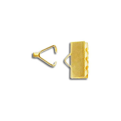 Crimp connector, 10mm, gold plate