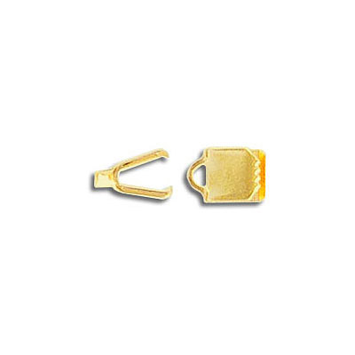 Crimp connector, 5mm, gold plate