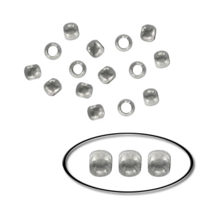 Crimp bead 3mm  nickel plated