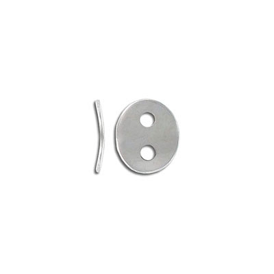 Button connector, 14x12mm, 2.3mm holes, stainless steel, grade 304l
