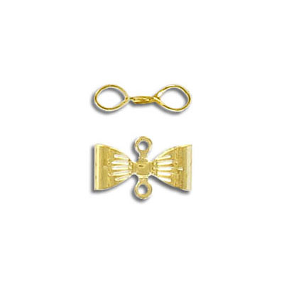 Bow w/loops gold plate