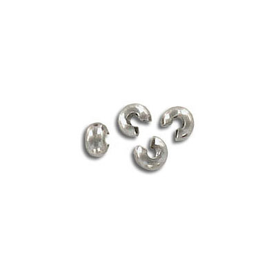 Crimp bead cover, 3mm, stainless steel