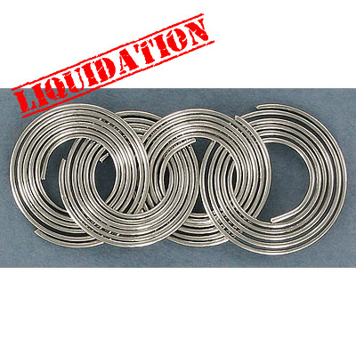 Connector, 23mm, 4-link wire, thick rhodium imitation platConnector, 23mm, 4-link wire, thick rhodium imitation plating