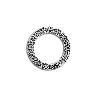 Connector, round ring, 18mm, pewter