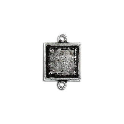 Setting connector, 12mm, square, pewter