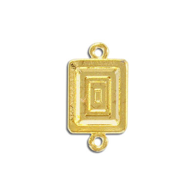 Connector, 19.5x15mm, rectangle, gold plate