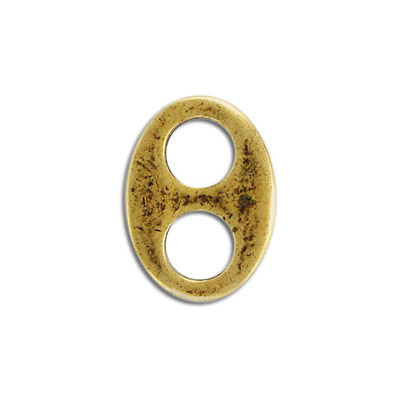 Marina connector, 25mm, pewter, antique brass, lead free