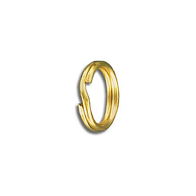 Split ring 12mm outside diameter steel gold plate