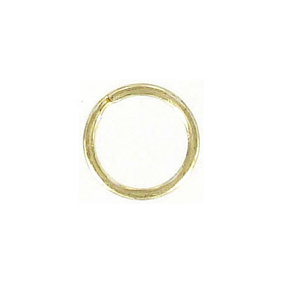 Split ring 14mm outside diameter steel gold plate