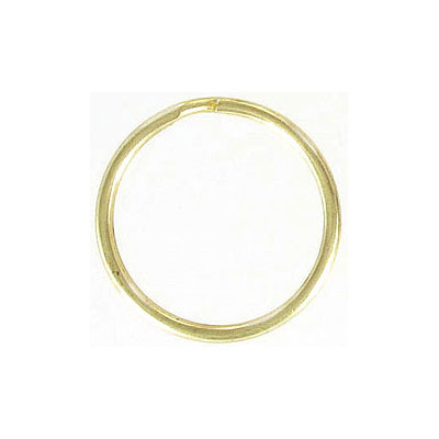 Split ring 24mm key ring steel gold plate