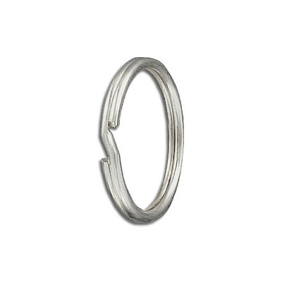 Split ring 24mm key ring steel nickel plate