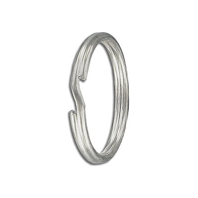 Split ring, 28mm outside diameter, tempered steel, nickel plate
