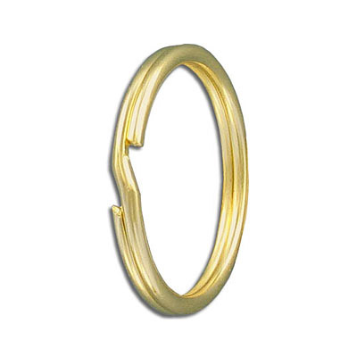 Split ring, 32mm outside diameter, tempered steel, gold plate