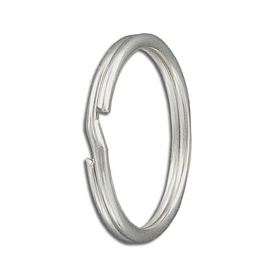 Split ring, 32mm outside diameter, tempered steel, nickel plate