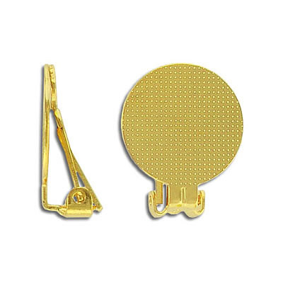 Ear clip gold plate 18mm