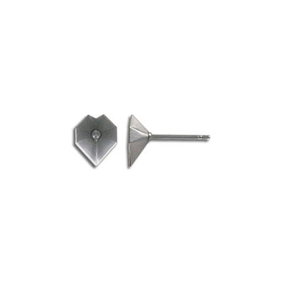 Earposts for Swarovski stones 4800/8MM, stainless steel