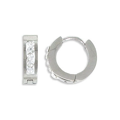 Earrings, 11.5mm, stainless steel