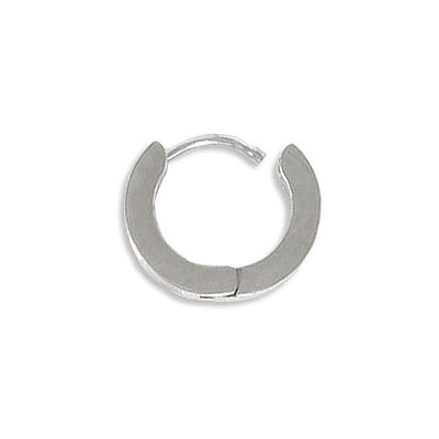 Earrings, 13mm, with sparkle pattern, stainless steel