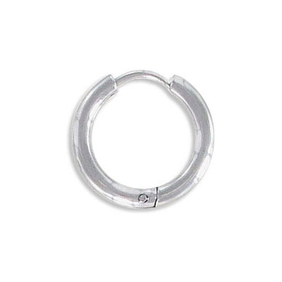 Earrings hoop, 12mm diameter, 2.5mm thick, stanless steel