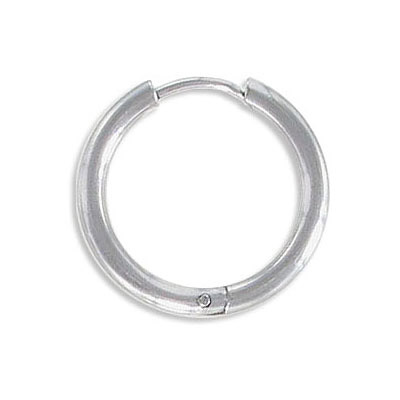 Earrings hoop, 16mm diameter, 2.5mm thick, stanless steel