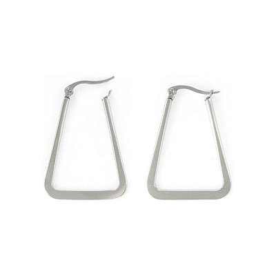 Earrings, 20x35mm, triangle, stainless steel