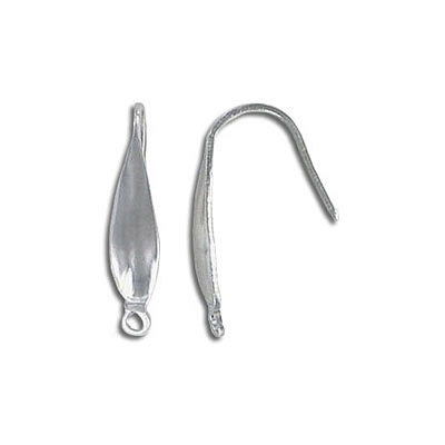 Earrings hook with loop, 20x4mm, wire thickness 0.75mm (20ga), stainless steel, 304l
