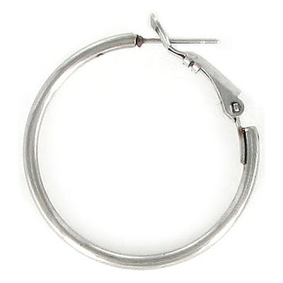 Earrings hoop, 30mm diameter, 2 mm thick, stainless steel