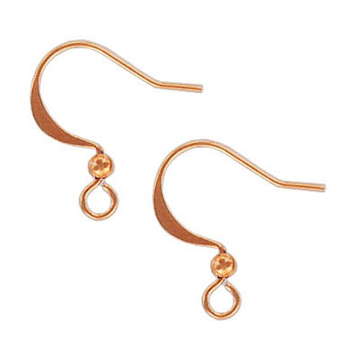 Earwire rose gold plate