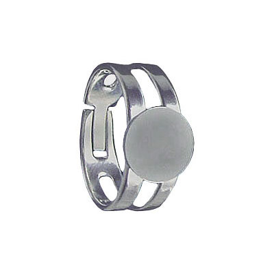 Finger ring expandable, 9mm pad, stainless steel, 316l grade
