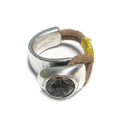 Half finger ring, setting for ss39 stones, zinc alloy, antique silver, nickel free