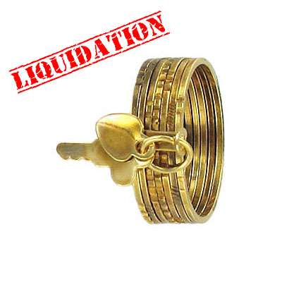 Finger ring expandable, 7-day, gold plate