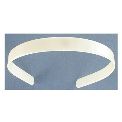 Hair band, 14mm, flat, blank, white
