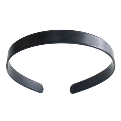 Hair band, 14mm, flat, blank, black