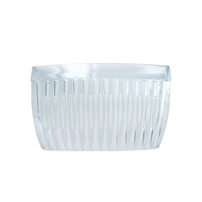 Plastic combs, transparent blue