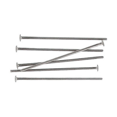 Headpin, 25mm (1 inch), 0.7mm wire thickness, 21 gauge, stainless steel pack of 500 pieces. Grade 316L