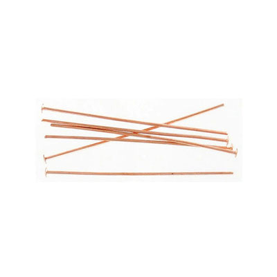 Head pin, 1.5 inch, 0.7mm wire, rose gold plate