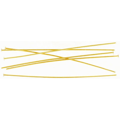 Headpin 64mm (2.5) 0.8mm diameter 20 gauge gold plate pack of 500 pieces nks