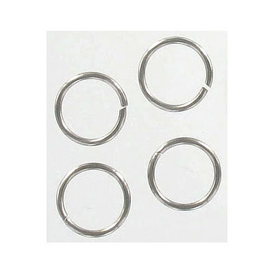 Jumprings, 10mm, 1mm thick, stainless steel 316l