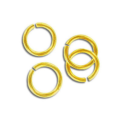 Jumpring 10mm outside diameter (1.4 mm, 15 gauge thickness) gold plate nkf