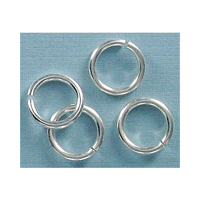 Jumpring 10mm outside diameter (1.4 mm, 15 gauge thickness) silver plate nkf