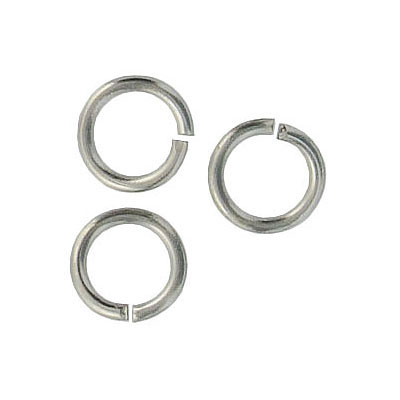 Jumpring 10mm outside diameter (1.4 mm, 15 gauge thickness) stainless steel nkf