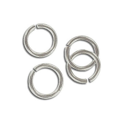Jumpring 10mm outside diameter (1.4 mm, 15 gauge thickness) nickel plate