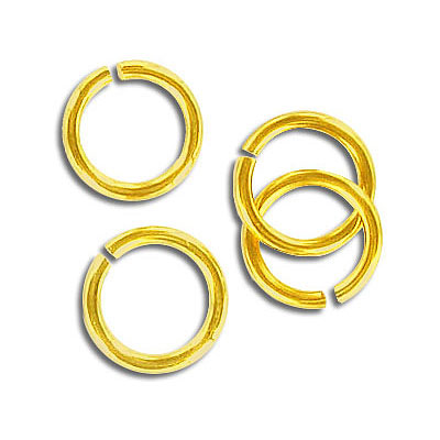 Jumpring 11mm outside diameter (1.4 mm, 15 gauge thickness) gold plate nkf